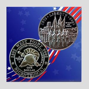 West Point Bicentennial Dollar Tile Coaster