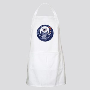 Blue Owl with Moon Apron