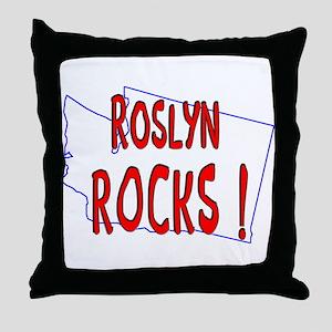 Roslyn Rocks ! Throw Pillow