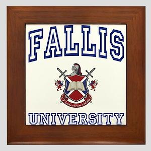 FALLIS University Framed Tile
