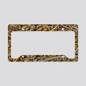 Pine Cone Carpet License Plate Holder