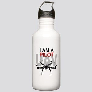 UAV Quadpilot Quadcopter Pilot Water Bottle