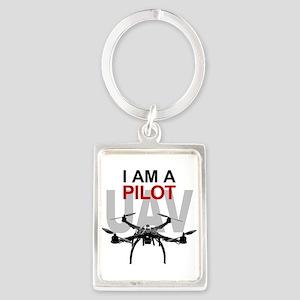 UAV Quadpilot Quadcopter Pilot Keychains