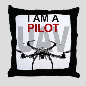 UAV Quadpilot Quadcopter Pilot Throw Pillow