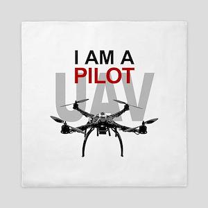 UAV Quadpilot Quadcopter Pilot Queen Duvet