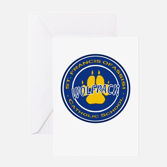 SFS Wolfpack logo Greeting Cards