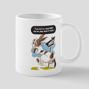 DUMB BUNNY RABBIT WWII navy cartoon art coffee cup