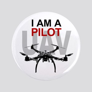 "UAV Quadpilot Quadcopter Pilot 3.5"" Button"