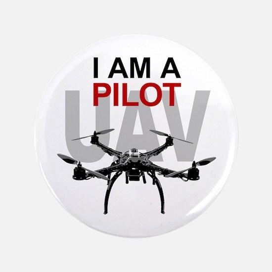 """UAV Quadpilot Quadcopter Pilot 3.5"""" Button"""