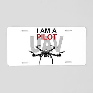 UAV Quadpilot Quadcopter Pilot Aluminum License Pl