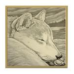 Shiba Inu Dog Tile Coaster