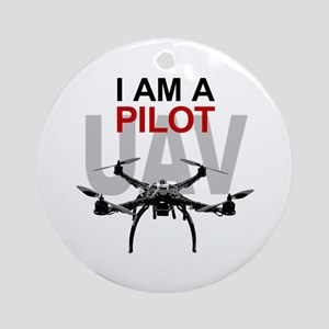 UAV Quadpilot Quadcopter Pilot Ornament (Round)