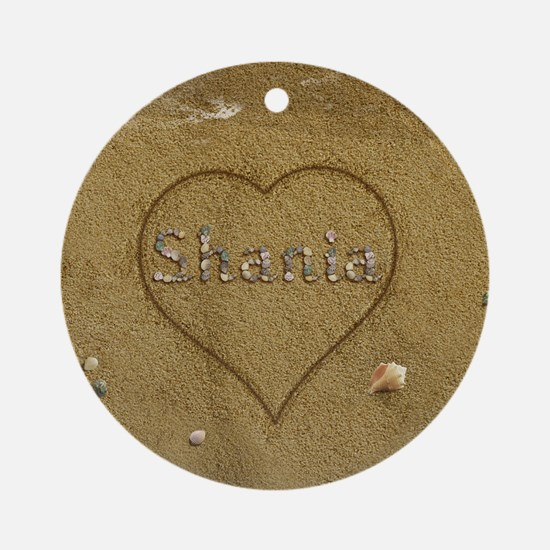 Shania Beach Love Ornament (Round)