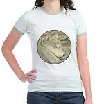 Shiba Inu Dog Jr. Ringer T-Shirt