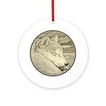 Shiba Inu Dog Round Ornament