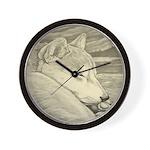 Shiba Inu Dog Wall Clock