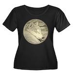 Shiba In Women's Plus Size Scoop Neck Dark T-Shirt