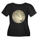 Shiba In Women's Plus Size Scoop Neck Dark T-Shirt