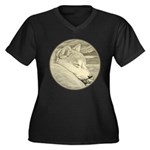 Shiba Inu Do Women's Plus Size V-Neck Dark T-Shirt
