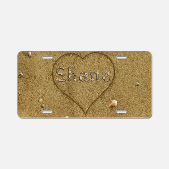 Shane Beach Love Aluminum License Plate