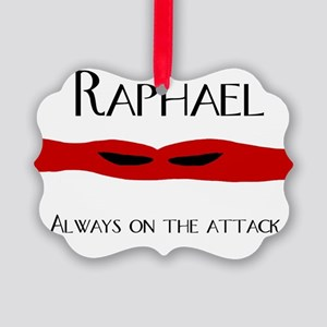 raph always on the attack front.j Picture Ornament