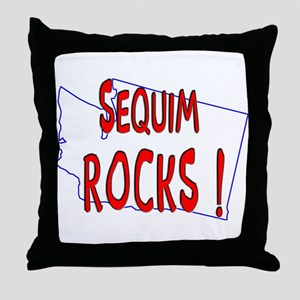 Sequim Rocks ! Throw Pillow