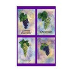 Wine Grapes Mini Poster Print