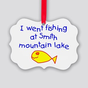 Boy - Fishing Smith Mountain Lake Picture Ornament