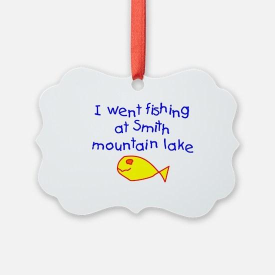 Boy - Fishing Smith Mountain Lake Ornament