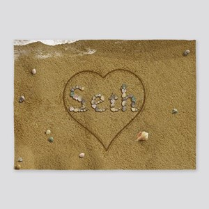 Seth Beach Love 5'x7'Area Rug