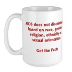 AIDS Doesn't Discriminate Large Mug