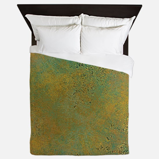 Turquoise Green and Camel Queen Duvet