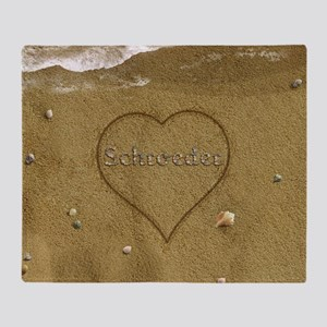 Schroeder Beach Love Throw Blanket