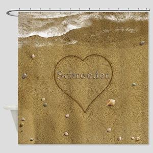 Schroeder Beach Love Shower Curtain