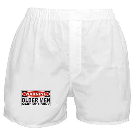 Warning Older Men Make Me Horny Boxer Shorts