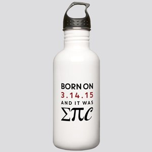 Born on 3-14-15 Stainless Water Bottle 1.0L