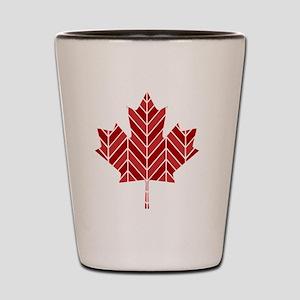 Chevron Maple Shot Glass