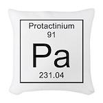 91. Protactinium Woven Throw Pillow