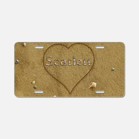 Scarlett Beach Love Aluminum License Plate