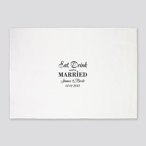 Eat drink and be married 5'x7'Area Rug