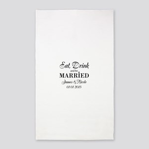 Eat drink and be married Area Rug