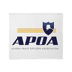 Apoa Official Logo Throw Blanket