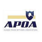 Apoa Official Logo 35x21 Wall Decal