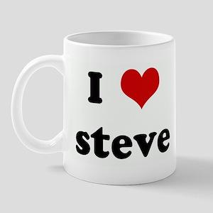 I Love steve Mug