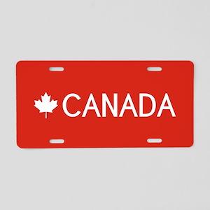 Canada (White Maple Leaf) Aluminum License Plate