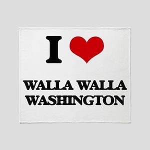 I love Walla Walla Washington Throw Blanket