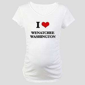 I love Wenatchee Washington Maternity T-Shirt