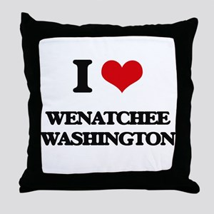 I love Wenatchee Washington Throw Pillow