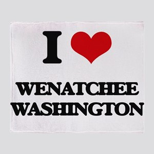 I love Wenatchee Washington Throw Blanket