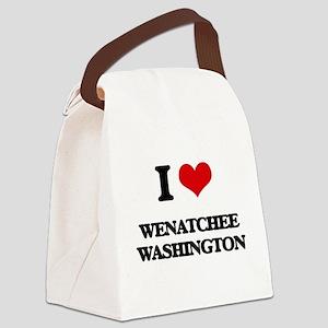 I love Wenatchee Washington Canvas Lunch Bag